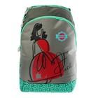 Рюкзак Across GL6 44*28*13 для девочки, серый/зелёный