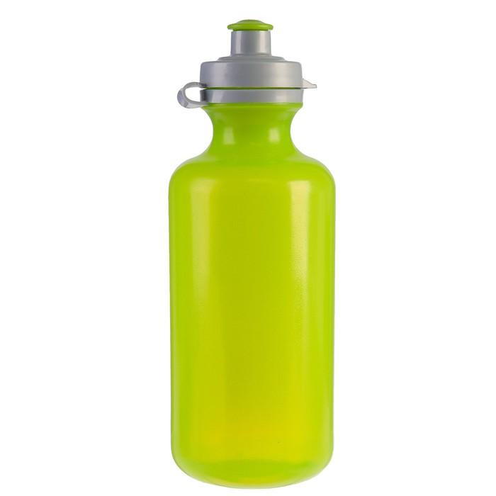 Бутылка для воды 800 мл «Бочонок», велосипедная, пластик PE, зелёная, 8х22.5 см