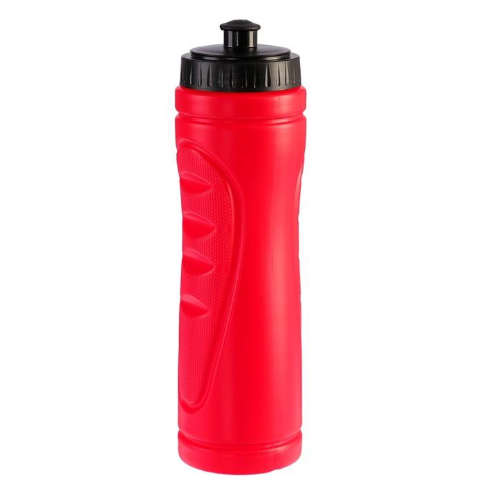Бутылка для воды 750 мл «Классика», велосипедная, пластик HDPE, красный, 7.5х25.5 см