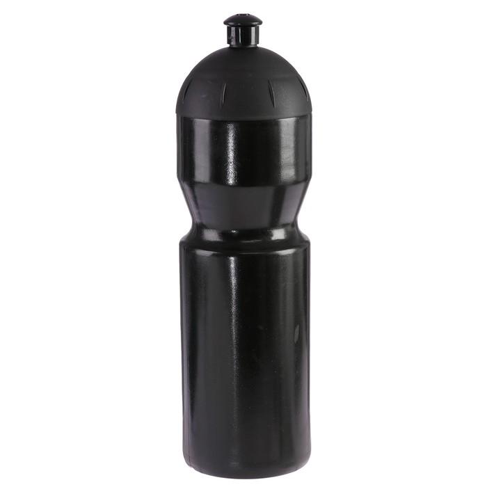 Бутылка для воды 850 мл «Купол», велосипедная, с соской, пластик LDPE, черная, 7х26 см