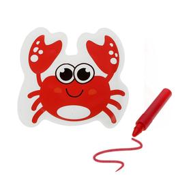 Игрушка для ванны с пищалкой «Крабик» + водный карандаш