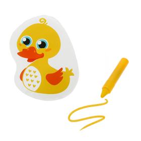 Игрушка для ванны с пищалкой «Уточка» + водный карандаш