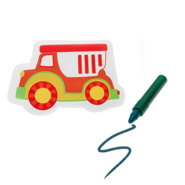 Игрушка для ванны с пищалкой «Машинка» + водный карандаш