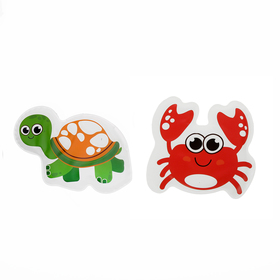 "A set of bath toys for squeaky ""the Crab and the turtle"", 2 PCs."