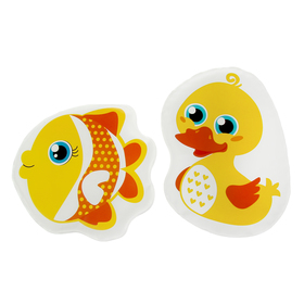 "A set of bath toys for squeaky ""Duck and fish"", 2 PCs."