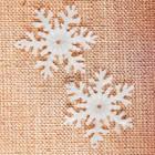"""Основа для творчества и декора """"Снежинка"""" набор 4 шт, размер 1 шт 5 см, цвет белый"""
