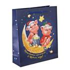Пакет ламинат вертикальный «Исполнения желаний в Новом году!», MS 18 х 23 х 8 см