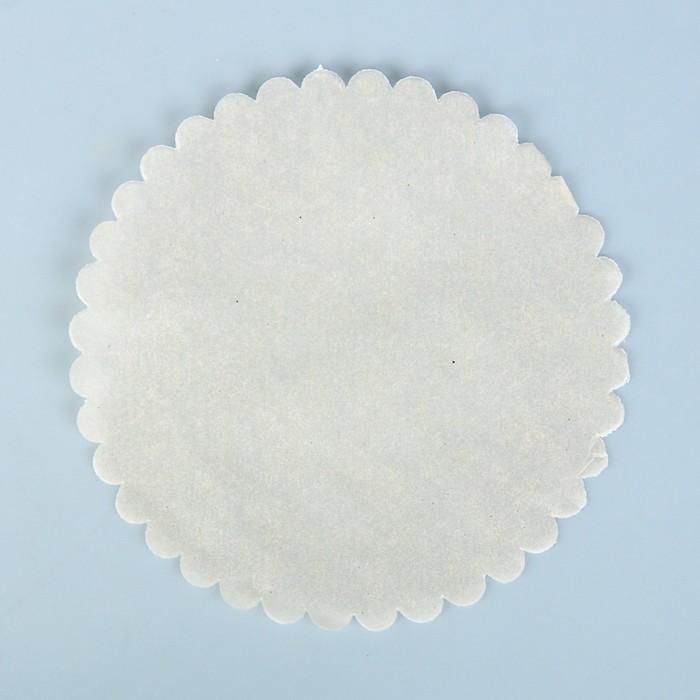 """Салфетка для торта """"Ромашка"""", пергамент, 18 см - фото 305182264"""