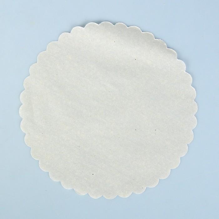 """Салфетка для торта """"Ромашка"""", пергамент, 21 см - фото 295085853"""