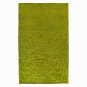Ковёр Фризе «Шегги», цвет салатовый, 100х200 см