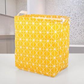 Корзина для белья, текстильная, цвет желтый Ош