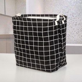 Корзина для белья, текстильная, цвет черный Ош