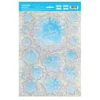 Интерьерная наклейка‒голография «Сверкающие снежинки», 21 х 29,7 см