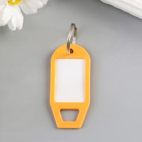 Идентификатор для ключей на кольце пластик МИКС 5х2,3х0,3 см Ош