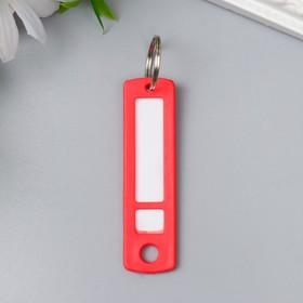 Идентификатор для ключей на кольце пластик МИКС 6,3х1,7х0,3 см Ош