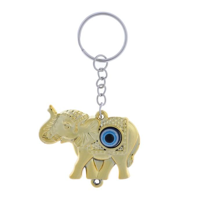 "Брелок глазки ""Слон"" золото 3,5х4,8х0,8 см"