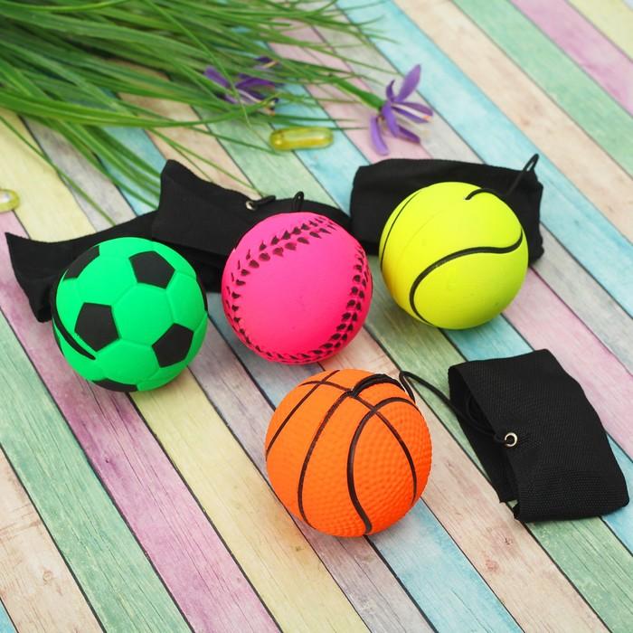 """Мяч мягкий """"Спортсмен"""" на резинке 6 см"""
