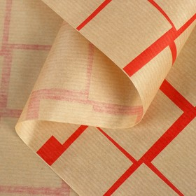 "Paper, wrapping, Kraft ""Tile Red"", 0.6 x 10 m"