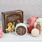 """Набор в подарочной коробке """"Любимому учителю"""": крем для рук, бурлящий шар, соль для ванны, мыло ручной работы"""