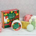 """Набор в подарочной коробке """"Самому классному учителю"""": крем для рук, бурлящий шар, соль для ванны, мыло ручной работы"""