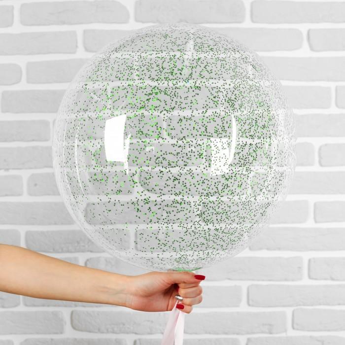 """Шар полимерный 20"""" """"Сфера"""", маленькие звезды, цвет зеленый, 1 шт"""