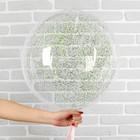 """Шар полимерный 20"""" «Сфера», маленькие звёзды, цвет светло-зелёный, 1 шт. - фото 308466434"""