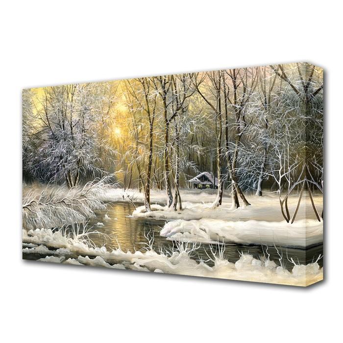"Картина на холсте ""Зимой в лесу"""