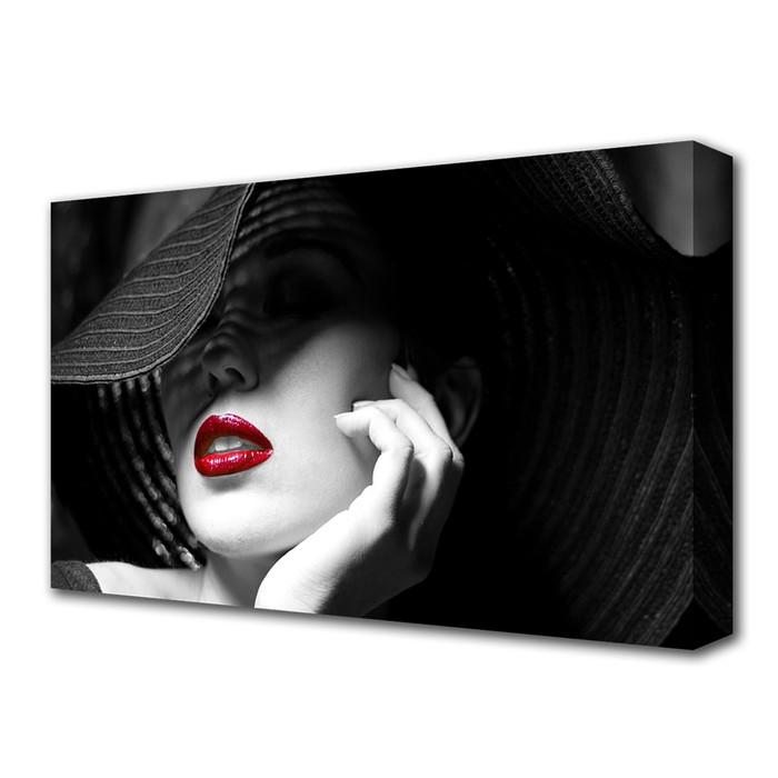 "Картина на холсте ""Дама в шляпе"" 60*100 см"