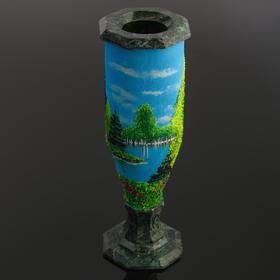 Vase 'Summer' serpentine, 27 x 9x9 cm