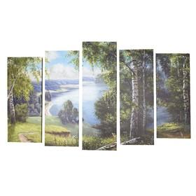 "Модульная картина на подрамнике ""Летняя тишина"" 2-25х64, 2-25х71,1-25х80  125*80 см"