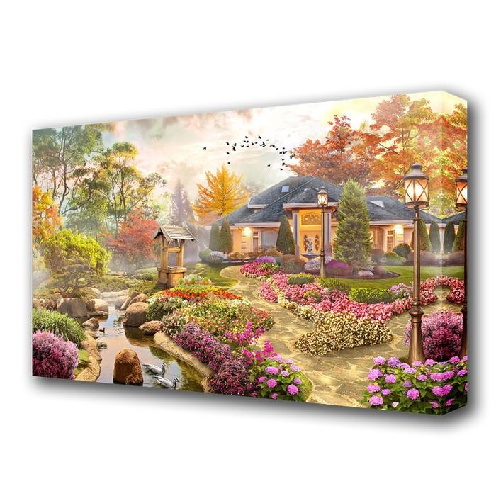 "Картина на холсте ""Цветочный сад"""