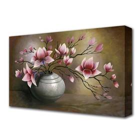 """Картина на холсте """"Ваза с цветами"""""""