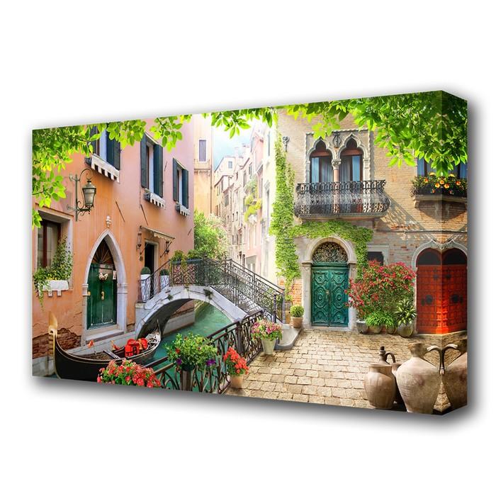"""Картина на холсте """"Дворик в Венеции"""""""