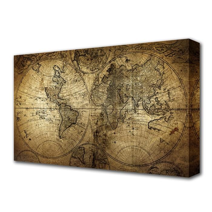 """Картина на холсте """"Карта мира"""""""