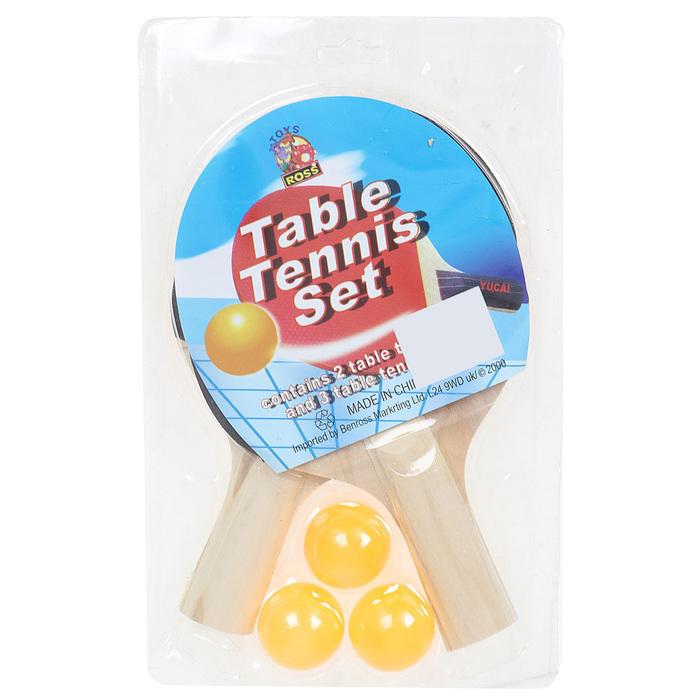 Набор для настольного тенниса, 2 ракетки толщиной 0,5 см, 3 шарика, любительские, пластиковая ручка