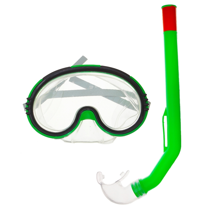 Набор для подводного плавания детский, 2 предмета: маска и трубка PVC, в пакете, цвета МИКС
