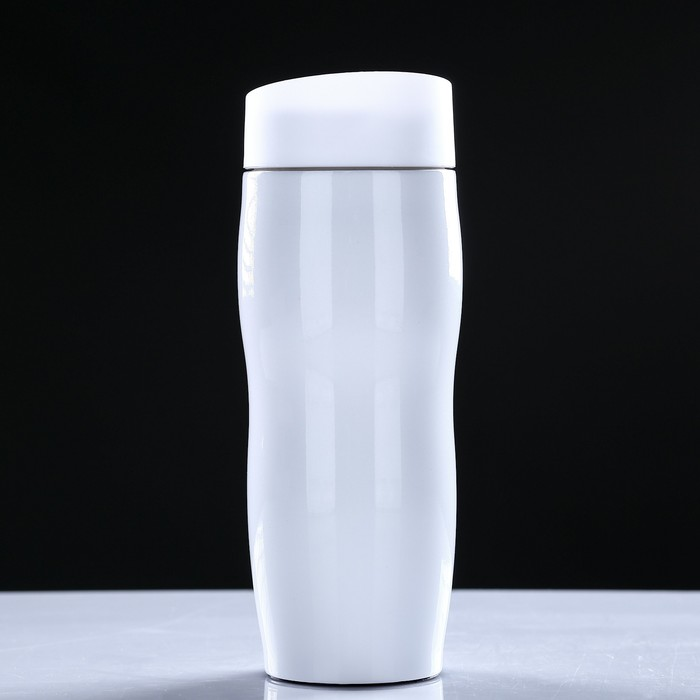 """Термокружка """"Нежность"""", 380 мл, держит тепло 12 ч, белая, 7х20 см"""