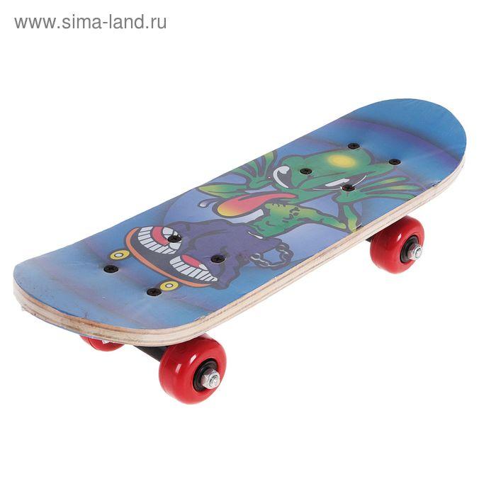 "Скейтборд ""Инопланетное существо"", колеса PVC d= 50 мм"