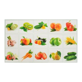 Наклейка декоративная на кафельную плитку Натюрморт фруктовый 75*45 см Ош