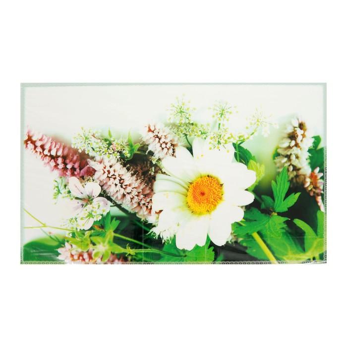 Наклейка декоративная на кафельную плитку Букет ромашек 75*45 см