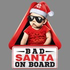"Наклейка на авто ""Bad santa on board"""
