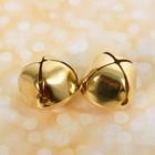 Бубенчики, набор 2  шт, размер 1 шт 3,5 см, цвет золотой
