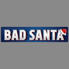 """Sticker at the number of """"Bad santa"""""""