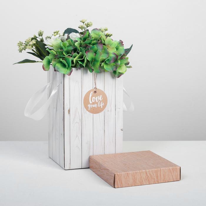 Коробка складная «Доски», 14 × 23 см