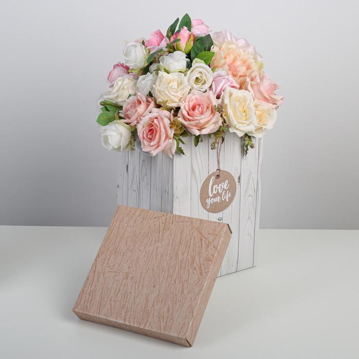 Коробка складная «Доски», 17 × 25 см