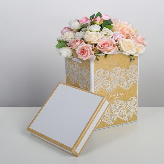 Коробка складная «Кружево», 17 × 25 см