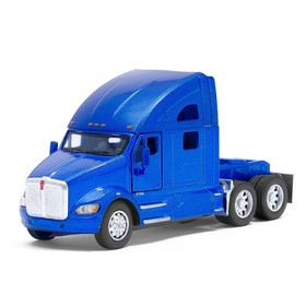Truck metal Kenworth T700, scale 1:68, doors open, inertia, MIX