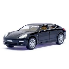Машина металлическая Porsche Panamera S, масштаб 1:40, открываются двери, инерция, цвет чёрный