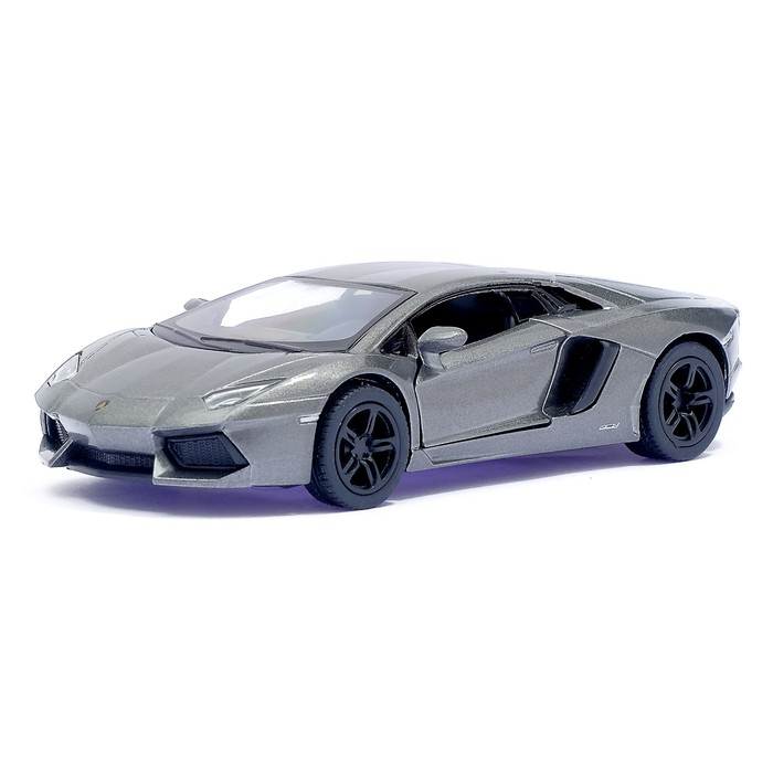 Машина металлическая Lamborghini Aventador LP 700-4, 1:38, открываются двери, инерция, цвет серый