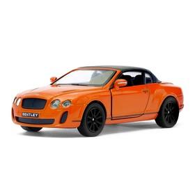 Машина металлическая Bentley Continental Supersports Convertible, 1:38, открываются двери, инерция, цвет коричневый